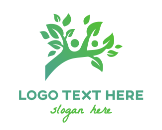 People - Green Branch People logo design