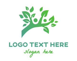 Branch - Green Branch People logo design