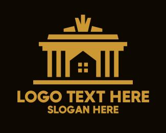 Room - Golden House Real Estate logo design
