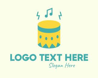 Percussionist - Upbeat Percussion Drum logo design