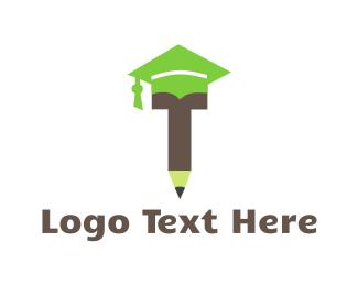 Phd - Graduation Pencil logo design