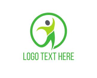 Healing - Green & Health logo design