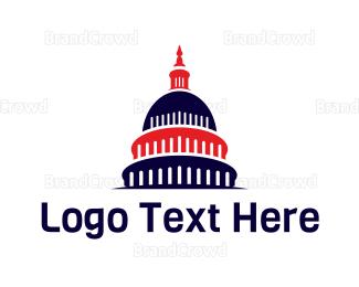 Politics - US Flag Capitol logo design