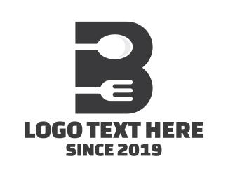 Black Spoon - Black B Restaurant  logo design