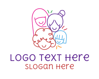 Rights - Colorful Women's Day logo design