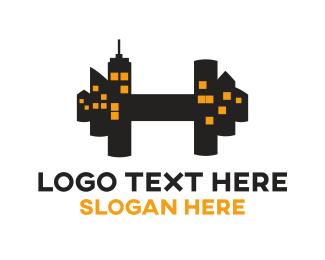Skyline - City Gym logo design