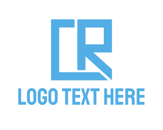 Cr - Geometric CR Gaming logo design