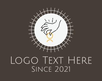 Mystical - Hand Charity Outline logo design