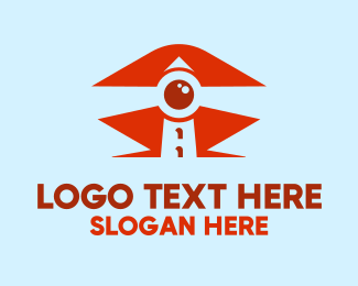 Rescue - Lighthouse Eye logo design