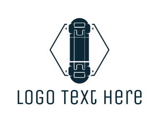 Xgames - Hexagon Skateboard  logo design