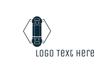 Skateboard - Hexagon Skateboard  logo design