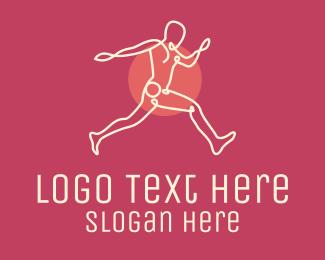 Cardio - Monoline Active Man logo design