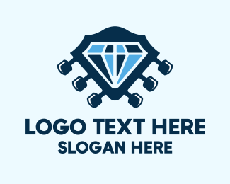 Acoustic - Diamond Rock Sound logo design