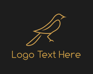 Sparrow - Golden Bird Sparrow logo design