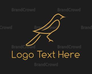 Fortune - Golden Sparrow logo design