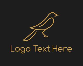 Finch - Golden Bird logo design