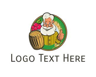 Brewer - Grandpa & Barrel logo design