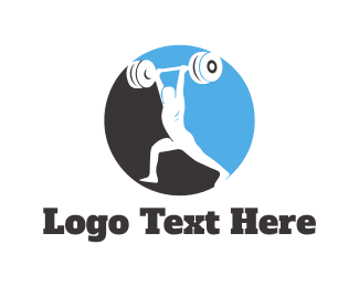 Bodybuilder - Bodybuilding Circle logo design