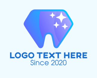 Dental Care - Sparkling Dental Diamond logo design