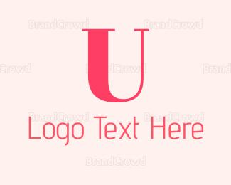 Classic - Classic Pink U logo design