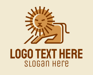 Lion Mane - Sun Lion Mane  logo design