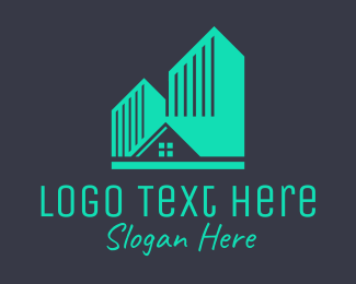 Apartment - Green Apartment Housing logo design