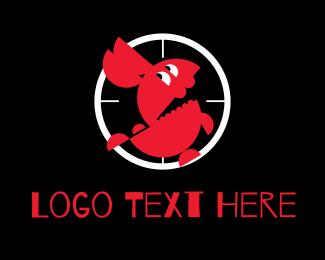 Gun - Rabbit Target logo design