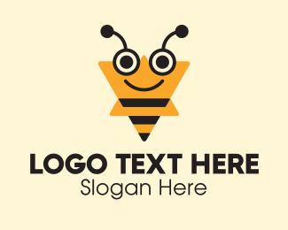 Beekeeping - Triangle Wasp logo design