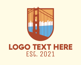 Infrastracture - Golden Gate Bridge logo design