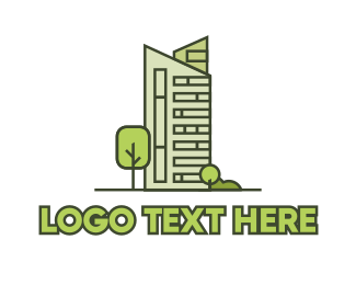 Real Estate Development - Eco City Builder logo design