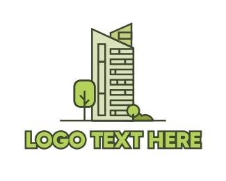 High Rise - Eco City Builder logo design