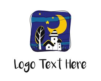 Moonlight - Night Town logo design