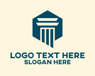 Legal Service - Professional Business Pillar  logo design