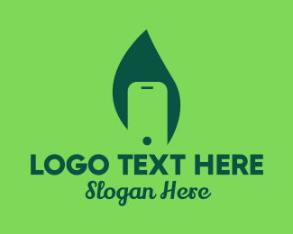 Mobile - Leaf Mobile Phone  logo design
