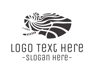 Warm - Striped Elephant logo design