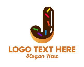Sugar - Donut Bakeshop Letter J logo design