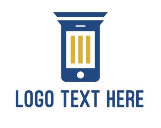 Mobile - Column Phone logo design