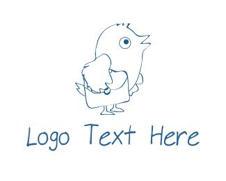 Pigeon - Carrier Pigeon logo design