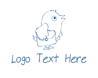 Messenger - Carrier Pigeon logo design