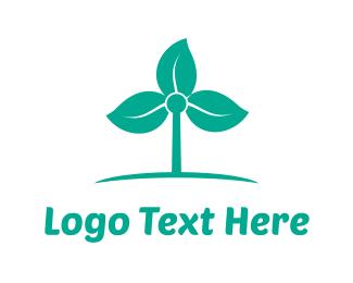 Breeze - Windmill Flower logo design