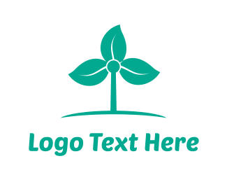 Energy - Windmill Flower logo design