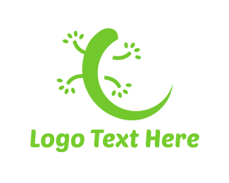 Lizard - Green Gecko logo design