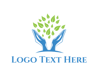 Botanical - Green Foliage logo design