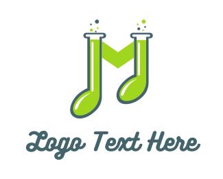 Mp3 - Music Lab logo design