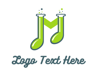 Music - Music Lab logo design