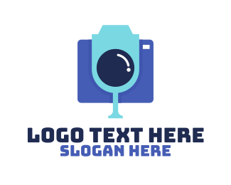 Photograph - Blue Party Camera logo design