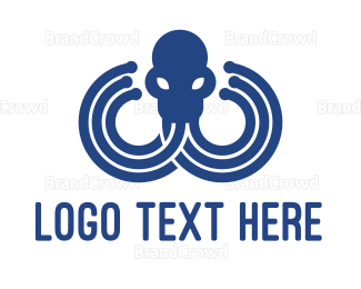 Octopus - Blue Octopus logo design
