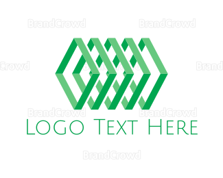 Fidget Spinner - Geometric Green Chain logo design