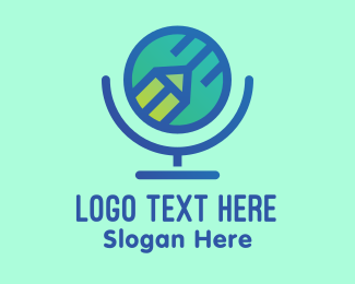 Teaching - Online Global Teacher logo design