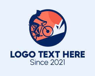 Bike Tour - Professional Bike Cyclist logo design